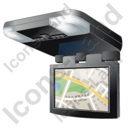 Car Overhead Monitor Map Icon, PNG/ICO, 256x256