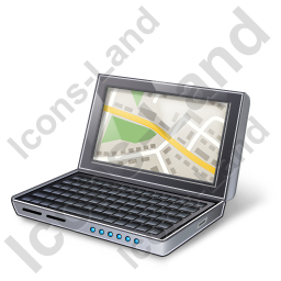 NetBook Map Icon, PNG/ICO, 256x256