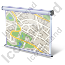 Projection Screen Map Icon