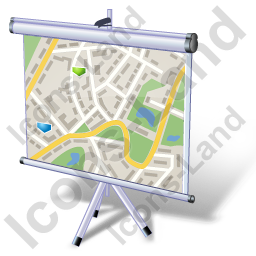 Projection Screen Tripod Map Icon
