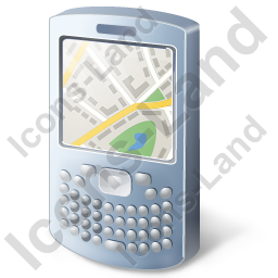 Smartphone Map Icon, PNG/ICO, 256x256