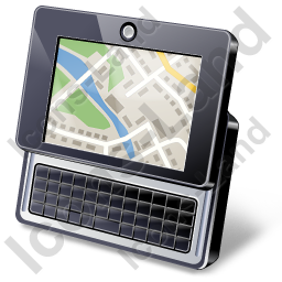 Ultra Mobile Personal Computer Map Icon, PNG/ICO, 256x256