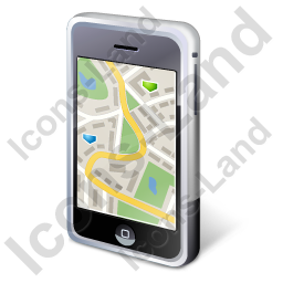 iPhone Map Icon, PNG/ICO, 256x256