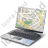 Portable Computer Map Icon