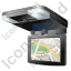 Car Overhead Monitor Map Icon, PNG/ICO, 64x64