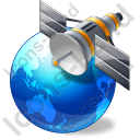 Satellite 1 Globe Blue Icon