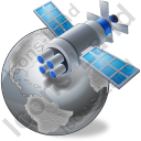 Satellite 2 Globe Grey Icon