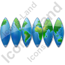 World Map 2 Icon, AI,