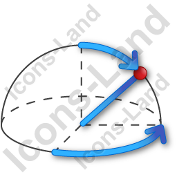 Coordinate System Spherical Icon