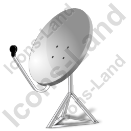 Satellite Dish 2 Icon, AI, 256x256