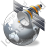 Satellite 1 Globe Grey Icon