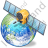 Satellite 3 Globe Icon
