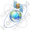 Satellite 4 Globe Orbits Icon