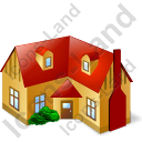House 2 Icon, PNG/ICO, 128x128