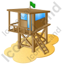 Lifeguard Tower Icon, PNG/ICO, 128x128