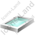 Swimming Pool Icon, PNG/ICO, 128x128