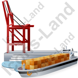 Cargo Port Ship Icon