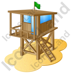 Lifeguard Tower Icon, PNG/ICO, 256x256