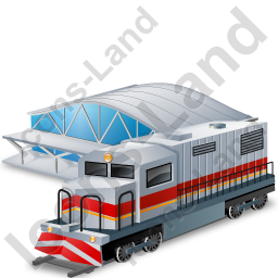 Train Station 1 Icon, PNG/ICO, 256x256