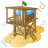 Lifeguard Tower Icon, PNG/ICO, 48x48