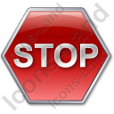 Stop Sign Icon, PNG/ICO, 128x128