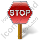 Stop Sign Post Icon, PNG/ICO, 128x128