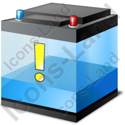 Automotive Battery Low Icon