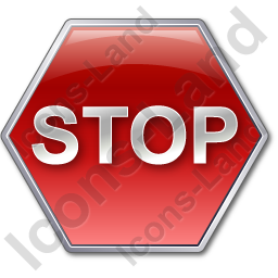 Stop Sign Icon, PNG/ICO, 256x256