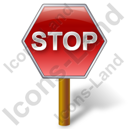 Stop Sign Post Icon, PNG/ICO, 256x256