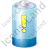 Battery Warning Blue Icon