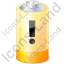 Battery Warning Yellow Icon