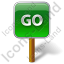 Go Sign Post Icon