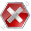 Stop Sign 2 Icon, PNG/ICO, 64x64