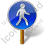 Walking Sign 1 Post Icon