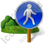 Walking Sign 2 Post Icon
