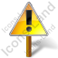 Warning Sign Post Icon