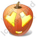 Halloween Pumpkin Adore Icon, PNG/ICO, 128x128
