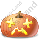 Halloween Pumpkin Dizzy Icon