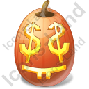 Halloween Pumpkin Easy Money Icon, PNG/ICO, 128x128