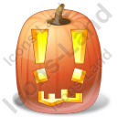 Halloween Pumpkin Exclamation Icon