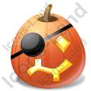 Halloween Pumpkin Pirate Icon