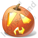 Halloween Pumpkin Shock Icon
