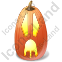 Halloween Pumpkin Surprised Icon, PNG/ICO, 128x128