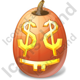 Halloween Pumpkin Easy Money Icon, PNG/ICO, 256x256