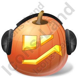 Halloween Pumpkin Music Icon, PNG/ICO, 256x256