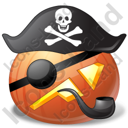 Halloween Pumpkin Pirates Captain Icon