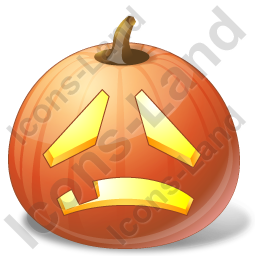 Halloween Pumpkin Sad Icon