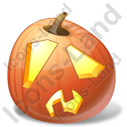 Halloween Pumpkin Shock Icon, PNG/ICO, 256x256