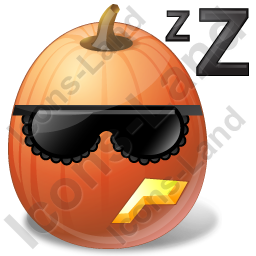 Halloween Pumpkin Sleeping Icon
