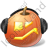 Halloween Pumpkin Music Icon, PNG/ICO, 48x48